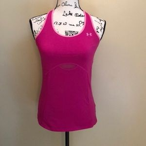 Under Armour Pink Running Tank w/ Built-In Bra